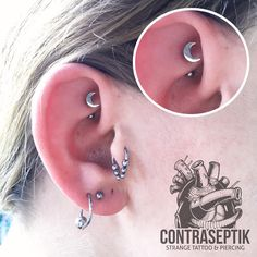 Rook so fun to do with anatometal jewelry quality ! #piercing #anatometal…
