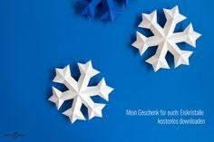 DIY Blog von Anastasia: Eiskristalle aus Papier
