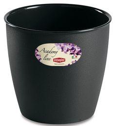 Pot ou Cache Pot Interieur et Exterieur 8.7 L ACADEMY ROND Anthracite au meilleur prix ! - LeKingStore