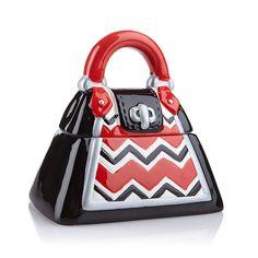 David S Cookies Fashion Handbag Purse Cookie Treat Size Snack Jar Black Red