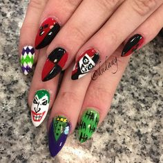 Why so serious? Batman fans, this Joker design would complement any Batman/Catwoman costume perfectly!! (Photo via @dndang)