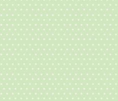 Polka_Dots_Mint fabric by buzzellis on Spoonflower - custom fabric