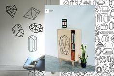 crystals & Diamonds on your wall Diamond Furniture, Diamond Drawing, Diy Stickers, Diamond Design, Creative Inspiration, Easy Diy, Sweet Home, Diy Projects, Interior Design