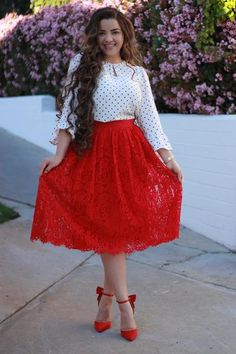 7c28b1712da8 28 Best Lace skirt outfits images | Cute outfits, Dress attire ...