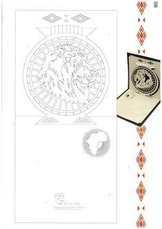 A pop up lion head card Kirigami Patterns, Kirigami Templates, Origami And Kirigami, Card Patterns, Origami Paper, 3d Cards, Pop Up Cards, Paper Cards, Pop Up Karten