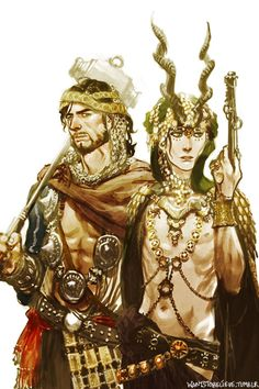 Middle Eastern Thor & Loki by wantstobelieve.tumblr (Also, incredibly sexy)