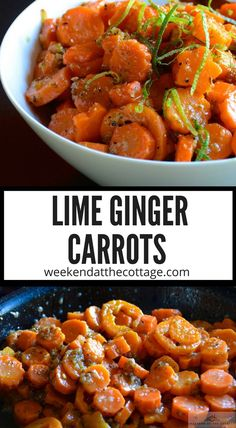 Carrots, lime, ginger, honey and spices - Could this be the perfect vegetable side dish? Carrots constantly rank high amongst the most popular vegetables. They are a great source of beta-carotene, fibre, vitamin K, potassium and antioxidants, making them a healthy choice too! #Easterdinner #carrotsidedishrecipe  #carrotrecipes #vegetablesidedish #vegetablerecipe