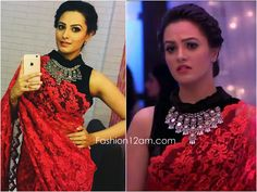 Here are few of your favorite blouse designs of the Divyanka Tripathi , the lead actress in Yeh Hai Mohabbatein . Stylish Blouse Design, Fancy Blouse Designs, Saree Blouse Designs, Sari Blouse, Blouse Patterns, Trendy Sarees, Stylish Sarees, Fancy Sarees, Shagun Blouse Designs