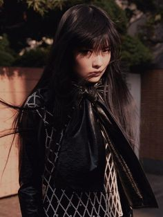 lucesolare: Kozue Akimoto by Jumbo Tsui for So Figaro August. Urban Stories, Emo Goth, Cybergoth, Fashion Editor, Fashion Killa, Ethereal, Bangs, Stylists, Punk