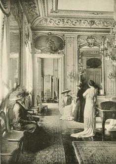 Léon Roger-Milès, Chéruit, Salon de Vente,  the luxurious sales salon of the couturier Madame Madeleine Chéruit, at 21 Place Vendôme, Paris, France, 1910.