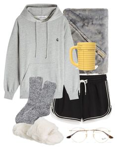 """""""lazy day"""" by ksasya on Polyvore featuring Monki, Très Bien, Express, PBteen and Ray-Ban"""