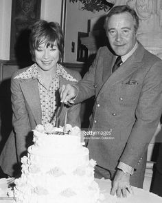 American actors Jack Lemmon (1925 - 2001, and Shirley MacLaine at Lemmon's 50th…