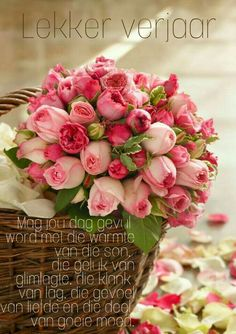 Pink Flowers : Basket of Fresh Cut Roses - Flowers.tn - Leading Flowers Magazine, Daily Beautiful flowers for all occasions