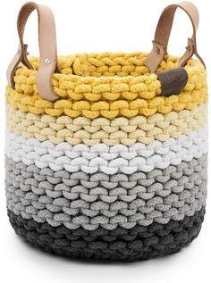 UGG® Rainbow Rope Nesting Basket, Medium Home - Bloomingdale's Crochet Sock Pattern Free, Crochet Basket Pattern, Crotchet Bags, Knitted Bags, Rope Basket, Basket Weaving, Crochet Home, Bead Crochet, Diy Crochet Basket