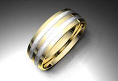 Alianza de oro blanco y amarillo de 18K modelo Dos colores satinada en blanco 6 mm de calibre #alianzas, #anillosdeboda, #boda, #novias www.cnavarro.com