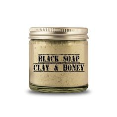 Natural African Black Soap Clay & Honey Face Cleanser Scrub for Acne by MommaBNaturals on Etsy