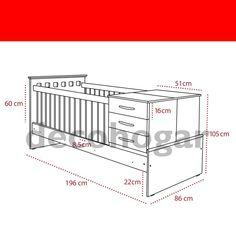 Berço Baby Crib Diy, Baby Bassinet, Baby Cribs, Baby Room Furniture, Baby Room Decor, Kids Furniture, Baby Crib Designs, Kids Bed Design, Rustic Baby