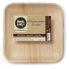 Whether you want your occasion to be large or small, simple or elaborate,traditional or contemporary, HANDY LEAF MAKE IT MEMORABLE. ALL NATURAL – Regular paper and Styrofoam plates are made with unnatural materials, are full of chemicals, and clog up the landfill. Handy Leaf plates are... - http://kitchen-dining.bestselleroutlet.net/product-review-for-handy-leaf-palm-leaf-plates-9-5-inch-square-disposable-dinnerware-100-natural-compostable-25-count/