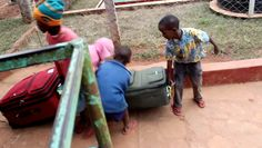 Kids from the village helping take the visitor's heavy luggages right away. These children are such beautiful human beings. They have absolutely so much to give.