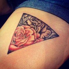 rose triangle tattoo - Pesquisa do Google