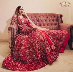 Outfit: Asiana Couture Delhi Engagement Gowns, Shadi Dresses, Indian Bridal Wear, Indian Couture, Bridal Outfits, Red And Pink, Poses, Bride, Wedding Dresses