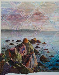 """Leaving Ireland"" by Robin M. Haller   Fiber Art"