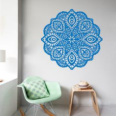 Wall Decals Mandala Protection AmuIets Indian Floral Pattern Yoga Studio Gym Home Vinyl Decal Sticker Kids Nursery Baby Room Decor kk6