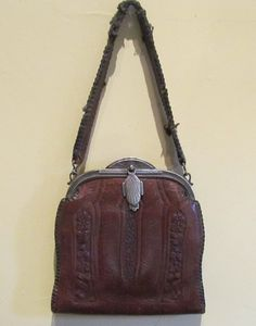 Antique Jemco Tooled Leather Purse