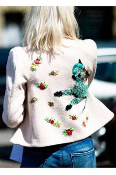Paris Fall 2012 Couture #streetstyle #embroidered