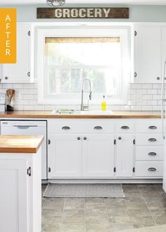 When we recently spotted this DIY kitchen renovation by Ashley, the blogger behind Cherished Bliss, on Hometalk, we couldn't believe our eyes. The room underwent a dramatic transformation, thanks to a DIY cabinet upgrade that saved Ashley and her family a lot of money. Take a look at Ashley's farmhouse kitchen makeover.