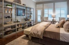 Look for ways to utilize wasted space in your home. Built-in shelving can be great to clear clutter out of your living spaces, a loft bed with work desk below makes a kid's room more functional and even consider furniture,  like an ottoman, that can also be used for storage, drink placement or seating.