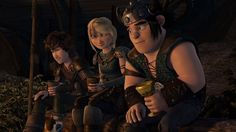 This is literally a family photo right here. {#httyd #hiccstrid #rtte} < I didn't even think about that until now! (For anyone confused, Hiccup and Snotlout are cousins.)