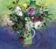 Roses in the Green Spotted Jug by Ann Oram Elisabeth Frink, Paintings For Sale, Love Art, Contemporary Artists, Vibrant Colors, Ann, Gallery, Flowers, Image