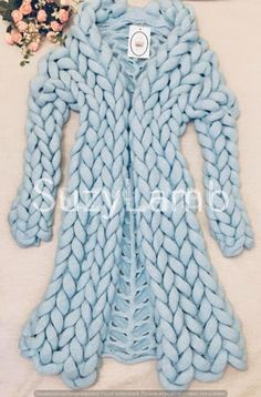 Vogue Knitting, Hand Knitting, Knitting Ideas, Knitting Projects, Chunky Knitwear, Chunky Knit Cardigan, Cocoon Cardigan, Knitted Coat, Knitting For Beginners