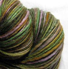 Handspun Yarn Thick and Thin Single Corriedale 'Giverny'