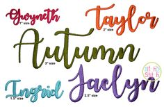 Autumn Embroidery Font | The Itch 2 Stitch