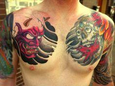 Tattoo For Guys Chest Skulls 53 Trendy Ideas Hanya Mask Tattoo, Hannya Tattoo, Irezumi Tattoos, Forearm Tattoos, Sleeve Tattoos, Chinese Tattoo Designs, Best Tattoo Designs, Tattoos For Guys, Tattoos For Women