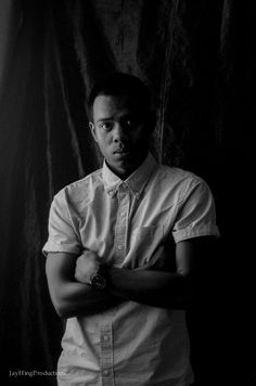 Natural Light Black and White Self Portrait @stevesolis