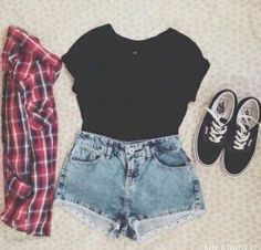 Fashion style Summer cute outfits tumblr shorts for lady