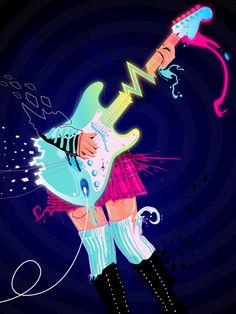 Outstanding Neon illustrations by Genaro Desia aka Surround