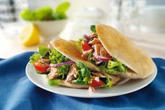 Tuna salad in Pitta bread
