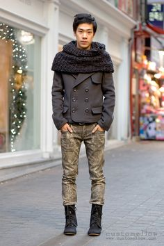 I would definetly wear the jacket but the jeans and shoes must go...just my swagg