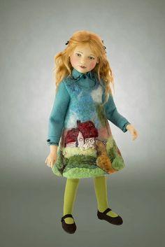 "Celeste""s outfit using artist made felt."