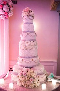 Towering wedding cake: http://www.stylemepretty.com/pennsylvania-weddings/2014/07/03/beautiful-ballroom-wedding-at-omni-willam-penn-hotel/ | Photography: Craig Photography - http://craig-photography.com/