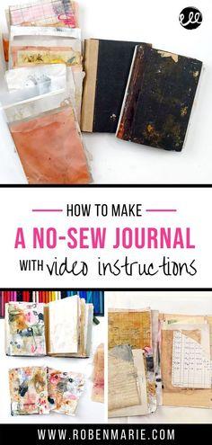 Transitions Journal Workshop with Roben-Marie Smith Art Journal Pages, Art Journals, Journal Ideas, Book Repair, Art Journal Tutorial, Weekend Crafts, Free Printable Art, Sewing Art, Handmade Journals