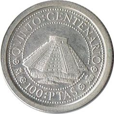 100 Pesetas 1989 Vº Centenario. Plata.