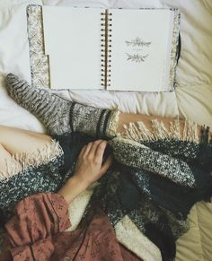 Good morning, Instagram ☺️Spending Sunday in a sleep shirt, the scarf that doubles as a blanket, and my favorite socks. Only one more day till my favorite month  Now all I really need is my coffee ☕️ ☕️ #TheFallReport #LayerEnvy #fpme #freepeople