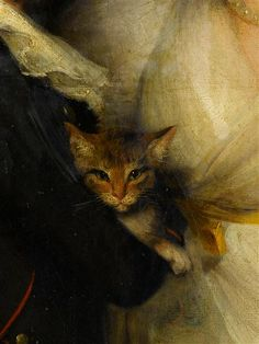 John Hoppner Young lady and boy holding a cat (detail) Outdoor Cats, Floral Photography, Grand Palais, Louvre, Here Kitty Kitty, Vintage Cat, Art Deco Jewelry, Illustrations, Cat Life