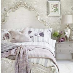 Lavender and silver color palette