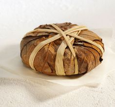 Banon,goat cheese wrapped with chestnut leaves,Alpes de hautes  provence,France.